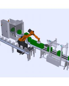 Robotic Box Filling and Packaging Line