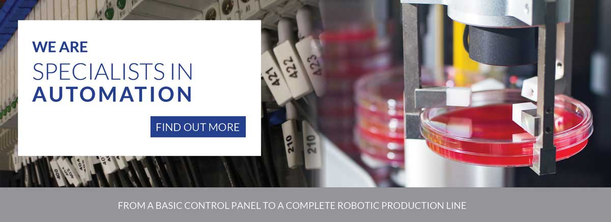 Specialists in automation - from a control panel to a complete robotic production line