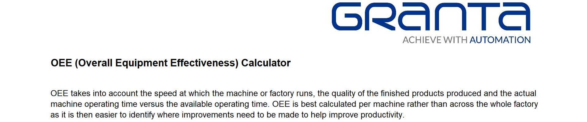 OEE Calculator